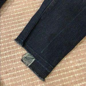 J Brand Jeans - J brand size 26, dark indigo wash step hem jeans